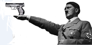Hitler with gun