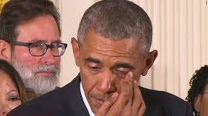 obama weeping